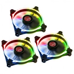 RAIJINTEK Macula 12 Rainbow PWM 12cm RGB LED 3db-os + Vezérlő