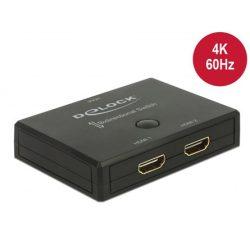 Delock 18749 HDMI 2 - 1 kapcsoló kétirányú 4K 60Hz