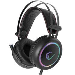 Rampage Stormy RGB mikrofonos fejhallgató