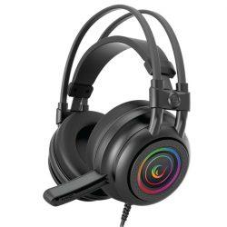 Rampage RM-K2 X-QUADRO RGB mikrofonos fejhallgató