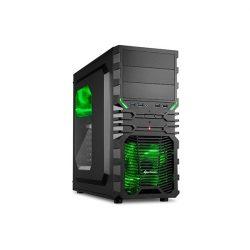 Sharkoon VG4-W Green számítógépház