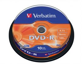 Verbatim DVD-R írható DVD lemez, hengeren 10db