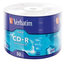Verbatim CD-R írható CD lemez, zsugor csomagolás 50db