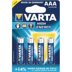 Varta Longlife Power (High Energy) 1.5V AAA alkáli elem 4db