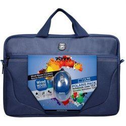 """Port Designs Polaris II Bundle 15,6"""" poliészter notebook oldaltáska + egér kék"""
