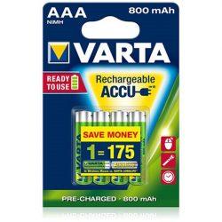 Varta Ready To Use 1.2V AAA Ni-Mh 800mAh akku 4db (R2U)