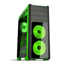 Spirit of Gamer Rogue 3 Green számítógépház