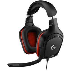 Logitech G332 gaming headset fekete-piros