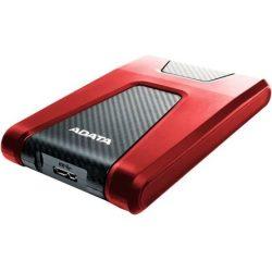 """1TB  ADATA HD650  5400rpm 8MB USB3.1 Gen1 2,5"""" vízálló ütésálló külső HDD piros"""