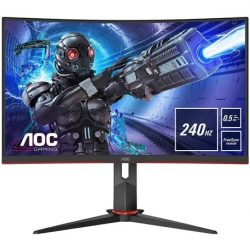 "27"" AOC C27G2ZE ívelt VA LED gaming monitor fekete 240Hz FreeSync Premium"