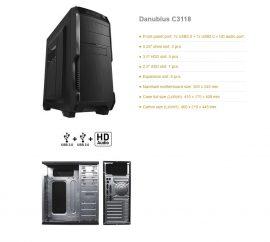 Danubius C3118 450W ATX midi torony