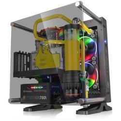 Thermaltake Core P1 Tempered Glass Edition táp nélküli ablakos Mini-ITX számítógépház fekete