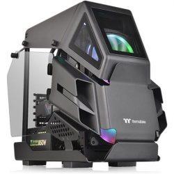 Thermaltake AH T200 táp nélküli ablakos mATX számítógépház fekete