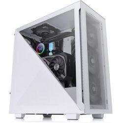 Thermaltake Divider 300 TG Snow táp nélküli ATX számítógépház fehér