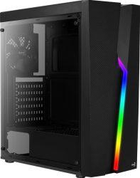 Számítógépház Aerocool Bolt TG RGB ATX Fekete Edzett üveg