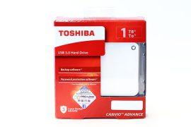 1TB Toshiba Canvio Advance USB3.0 külső winchester (fehér)