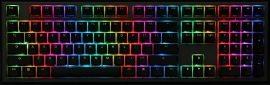 Ducky Shine 7 Gunmetal MX Black RGB LED Magyar Fekete/Szürke Billentyűzet