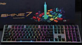 Ducky Shine 7 Gunmetal MX Blue RGB LED Angol (US) Fekete/Szürke Billentyűzet