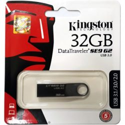 32GB Kingston DataTraveler SE9 G2 Premier USB 3.0 pendrive sötét króm