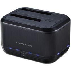 """LC-Power LC-DOCK-U3-III 2.5/3.5"""" SATA3 USB3.0 dokkoló fekete"""