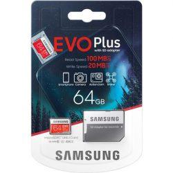 64GB Samsung EVO Plus microSDXC kártya + adapter (Samsung_MB-MC64HA/EU)