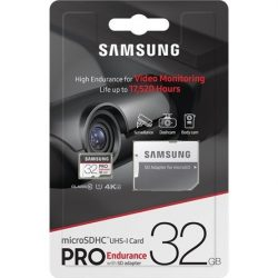 32GB Samsung Pro Endurance microSDHC CL10 UHS1 + adapter
