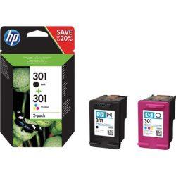 HP N9J72AE (no.301) tintapatron tri-color + fekete