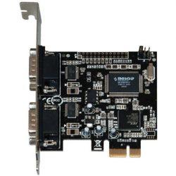 Best Connect PCI-E x1 2 portos soros port IO vezérlő