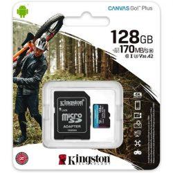 128GB Kingston Canvas Go! Plus UHS-I U3 V30 A2 microSDXC memóriakártya + adapter (SDCG3/128GB)