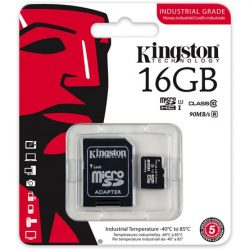 16GB Kingston Indrustrial Temp Class 10 UHS-I microSDHC memóriakártya (SDCIT/16GB)
