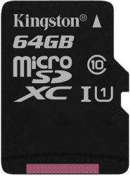 64GB Kingston Canvas Select 80R CL10 UHS-1 microSDXC memóriakártya (SDCS/64GBGPSP)